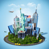 America. Famous symbols of New York city. Traveling to America Stock Photography