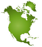 America. The continent of North America Stock Image