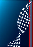 America. Abstract American flag conceptual background royalty free illustration