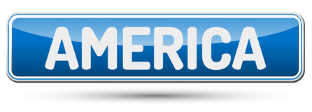 AMERICA - Abstract beautiful button with text. AMERICA - Abstract beautiful button with text Royalty Free Stock Photo