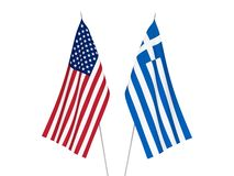 Free America And Greece Flags Stock Photography - 138809082