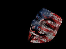 America Anonymous Guy Fawkes Royalty Free Stock Photo