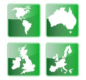 America australia britain europe. Illustration of icons of world maps showing the americas,great britain,australia and the european union countries isolated on stock illustration