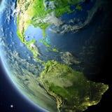 America Central de la órbita ilustración del vector