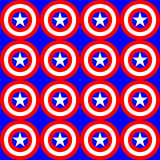 America colors illustration Stock Images