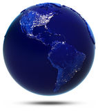 America continent and countries. Elements of this image furnished by NASA Royalty Free Stock Photos