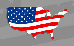 America country flag  icon Stock Photography
