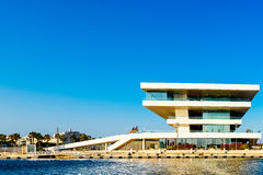 America Cup Building Foredeck Building or Veles e Vents In Valencia Stock Image