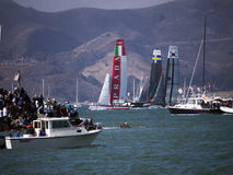 America Cup race in San Francisco Bay stock image
