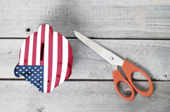 America cutting cost concept Stock Photo