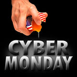 America cyber monday. Cyber monday america background banner Royalty Free Stock Image