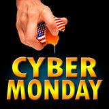 America cyber monday. Cyber monday america background banner Stock Photography