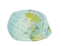 America. Deflated earth globe. Royalty Free Stock Photo