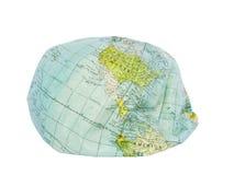 America. Deflated earth globe. royalty free stock photo