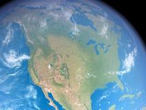 America do Norte do espaço Ilustração do Vetor