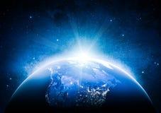 America do Norte Elementos desta imagem fornecidos pela NASA Imagens de Stock Royalty Free