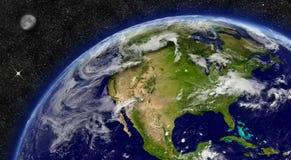 America do Norte na terra do planeta Foto de Stock