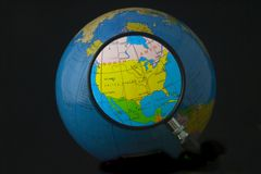 America do Norte no foco Imagens de Stock