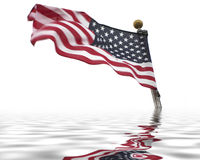 America drowning Stock Photography