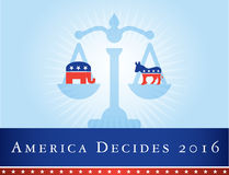 America 2016 elections Royalty Free Stock Image
