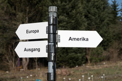 America, Europe, Exit Stock Image