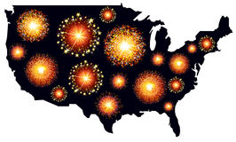 America fireworks Royalty Free Stock Photos