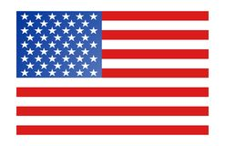 America Flag. An illustration of american flag Stock Photos