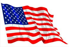 America flag Royalty Free Stock Photography