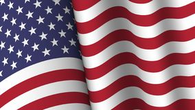 America flag background collection . Waving design . Ratio 16 : 9 . 4th of July independence day concept . Vector vector illustration