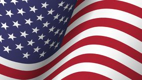 America flag background collection . Waving design . Ratio 16 : 9 . 4th of July independence day concept . Vector stock illustration