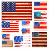 America flag collection vector Stock Photography