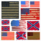 America flag collection vector Stock Image