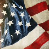 America flag ,grunge and retro style Royalty Free Stock Photos