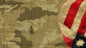 America Flag Mimetic Background Chart. America Flag Mimetic Background and Chart royalty free illustration