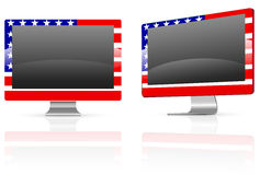 America flag monitor Royalty Free Stock Images