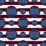 America flag 50 stars flag seamless pattern. This illustration is drawing America 50 stars flag element in symmetry seamless pattern Royalty Free Stock Photo