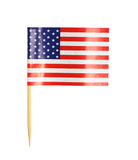 America flag toothpick. Isolated on white background royalty free stock photography