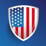 America flag USA shield Royalty Free Stock Image