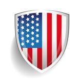 America flag USA shield Stock Photo