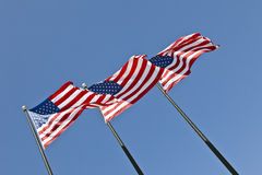 America Flags Royalty Free Stock Photo