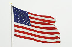 America The Great. Our Red, White, and Blue Waving high. Signal of freedom Royalty Free Stock Images