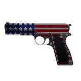 America Gun Pistol Crime Isolate Vector stock illustration