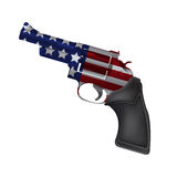 America Gun Revolver Crime Isolate Vector vector illustration