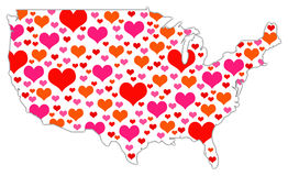 America hearts Royalty Free Stock Photography