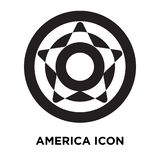 america icon vector isolated on white background, logo concept o stock illustration
