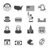 America icons Royalty Free Stock Photos