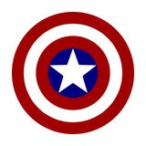 America logo. Vector illustration logo of the captain america emblem made in red, blue and white. High quality editable and scalable eps file available Stock Photography