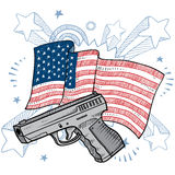 America' love for guns vector Royalty Free Stock Photography