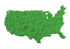 America made with grass Royalty Free Stock Image
