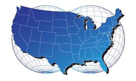 America map. On the white background and place for your text Stock Images
